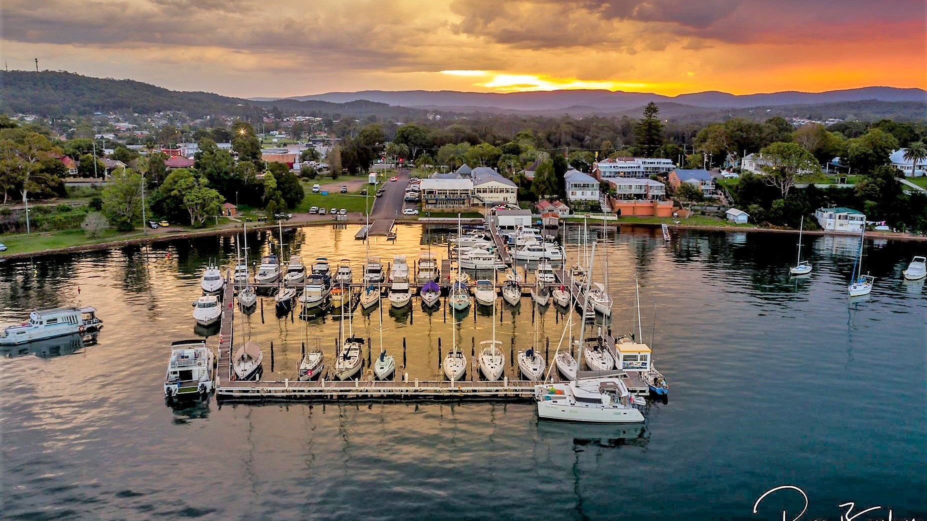 Aerial Marina Sunset